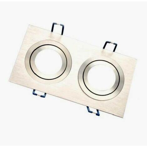 Aro empotrable rectangular doble de aluminio orientable para bombilla LED GSC 0701954