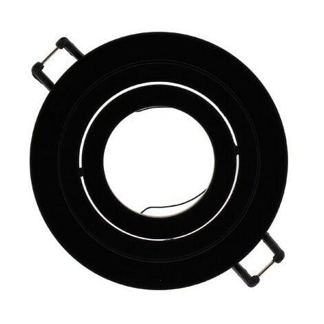 Aro empotrable redondo basculante Helium negro CRISTALRECORD 01-010-80-180