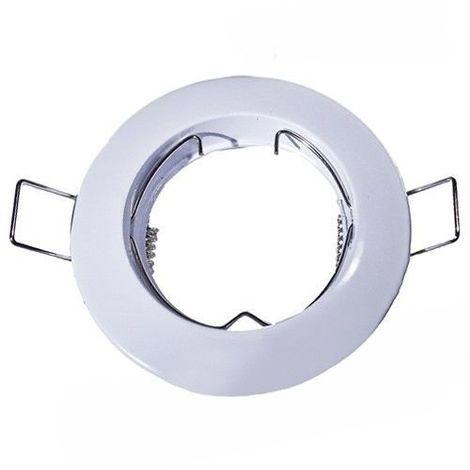 Aro empotrable redondo fijo blanco para bombilla LED GSC 0700654