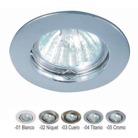 Aro empotrable redondo fijo NÍQUEL 75 mm para bombilla LED CONALUX 4001-02