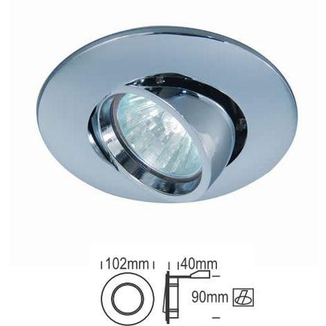 Aro empotrable redondo orientable CROMO 102 mm para bombilla LED CONALUX 4003-05