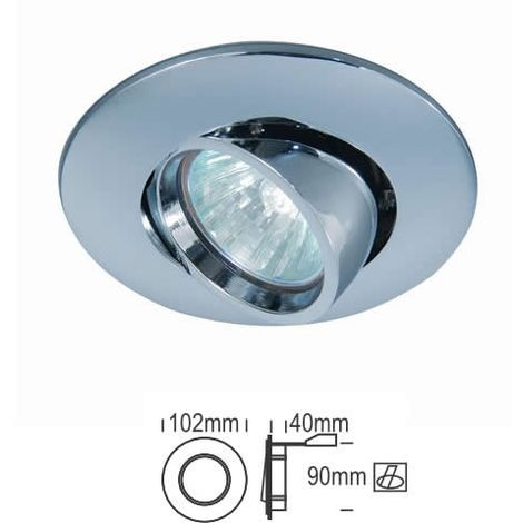 Aro empotrable redondo orientable NÍQUEL 102 mm para bombilla LED CONALUX 4003-02