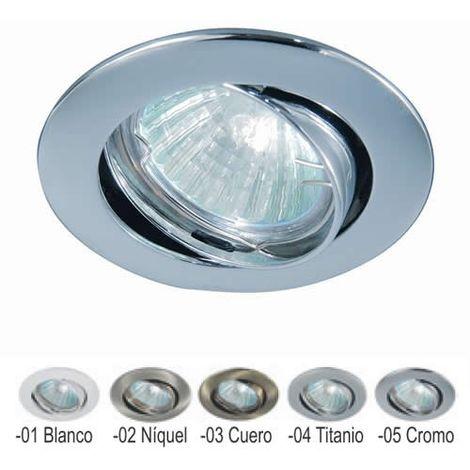 Aro empotrable redondo orientable NÍQUEL 84 mm para bombilla LED CONALUX 4000-02
