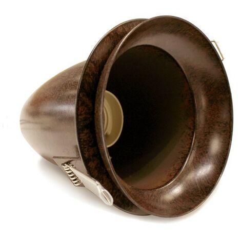CristalRecord Tim/ón Empotrable vintage redondo cobre envejecido