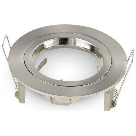Aro fijo aluminio redondo encastrable niquel satinado ø81x34