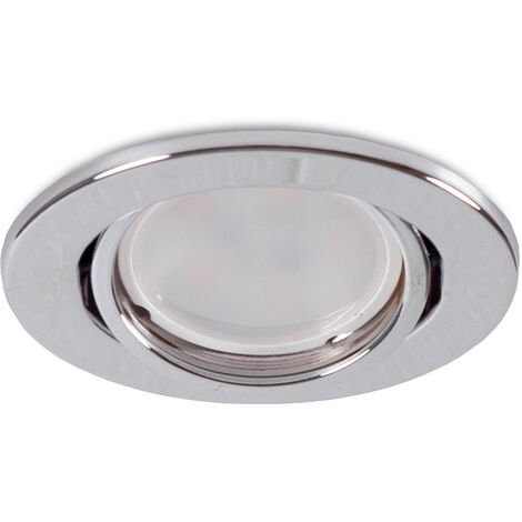 "Aro Foco Downlight Circular Basculante ""Vepa"" Acero 90mm - Cromado (LL-20-1610-17)"