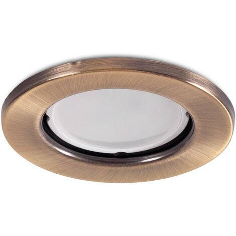 "Aro Foco Downlight Circular ""Sara"" Acero 81mm - Latonado (LL-20-1510-12)"
