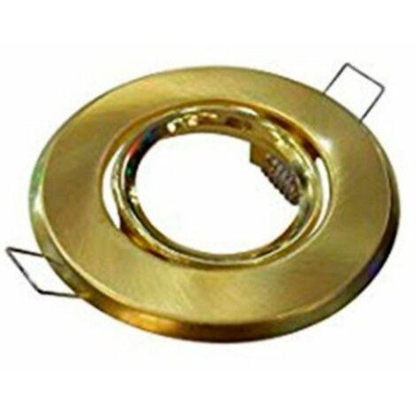 Aro halógeno fijo redondo dorado 530-D de Sluz