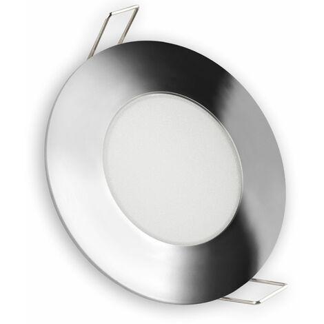Aro LED fijo IP65 redondo cromo 5w fría