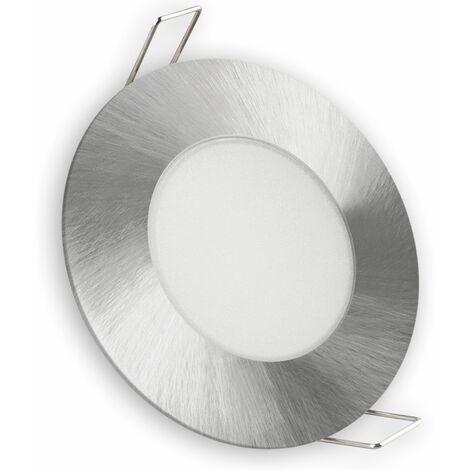 Aro LED fijo IP65 redondo niquel 5w fría