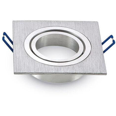 "main image of ""Aro empotrable para bombilla led cuadrado basculante blanco"""