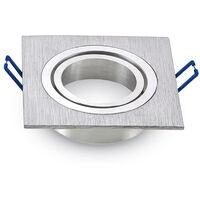 aro orientable aluminio cuadrado encastrable aluminio pulido