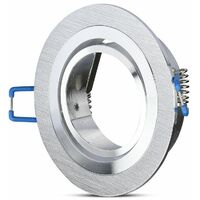 aro orientable aluminio redondo encastrable aluminio pulido ø91x25