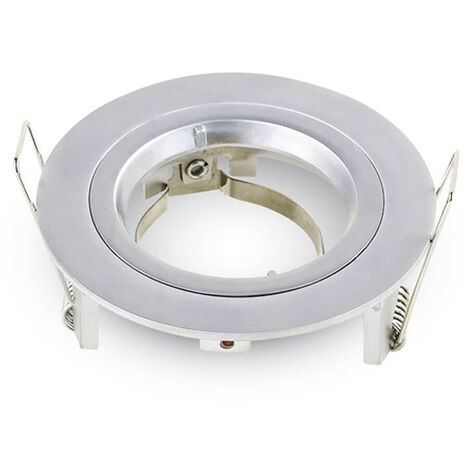 aro orientable aluminio redondo encastrable cromo ø81x34