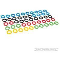 Aros identificadores de llaves en varios colores, 50 pzas