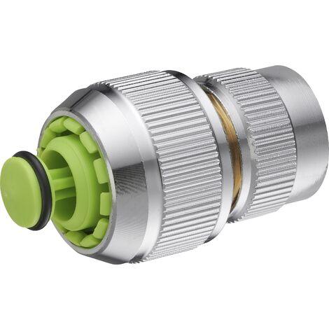 AROZ Raccord de connexion 6 billes automatique avec clapet aquastop pour tuyau d'arrosage