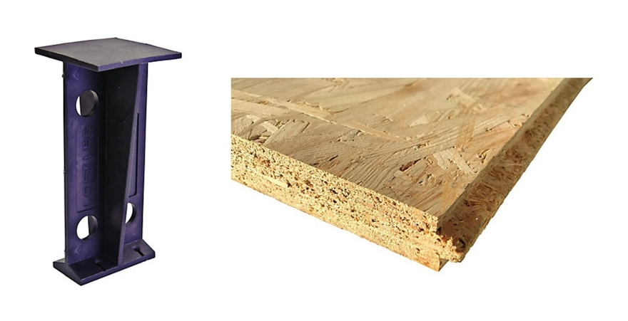 Image of OSB Loft Flooring Kit (Flooring & Legs) 400mm Joist Spacing 2.19m2 - Arranwood