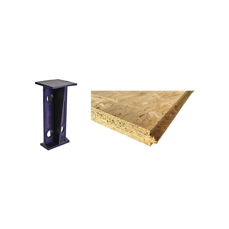 Image of OSB Loft Flooring Kit (Flooring & Legs) 600mm Joist Spacing 1.09m2 - Arranwood