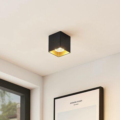 Arrchio plafón LED Zaki angular negro