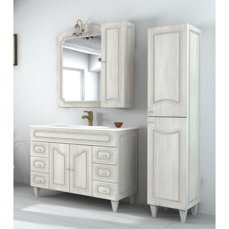 Accessori Per Bagno Arte Povera.Arredo Bagno 120cm Mobile Arte Povera Bianco Decape Con Specchio Mobili Lavandino In Ceramica
