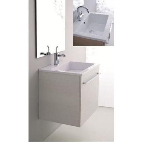 Ceramiche Arredo Bagno Moderno.Arredo Bagno Moderno Lavabo In Ceramica 60x48 Cm Mobile