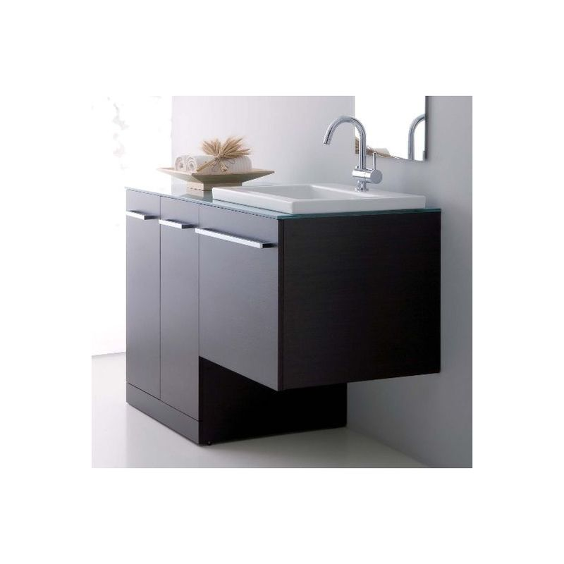 Mobile Bagno Lavatrice Lavabo.Arredo Bagno Wenge Con Mobile Con Copri Lavatrice Lavabo Ceramica