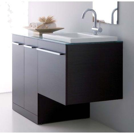 Arredo Bagno wengè o bianco mobile con copri lavatrice lavabo ceramica  porta lavatrice coprilavatrice