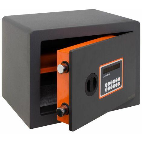 Arregui Plus C 180120 Coffre-fort Haute sécurité à poser, 10+3 mm, ouverture à code électronique, 25 x 35 x 25 cm, 15 L - gris foncé
