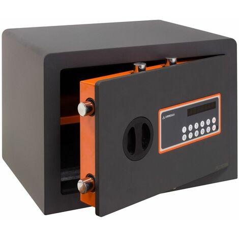 Arregui Plus C 180140 Coffre-fort Haute sécurité à poser, 10+3 mm, ouverture à code électronique, 27 x 38,5 x 30 cm, 23 L - gris foncé