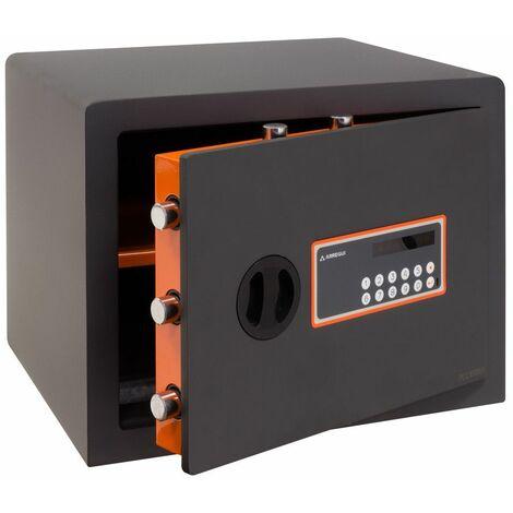 Arregui Plus C 180150 Coffre-fort Haute sécurité à poser, 10+3 mm, ouverture à code électronique, 32 x 42 x 36 cm, 38 L - gris foncé