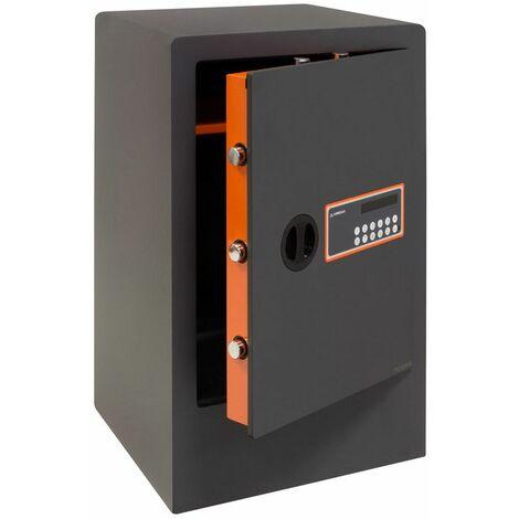 ARREGUI Plus C 180190 Coffre-fort Haute sécurité à poser, 10+3 mm, ouverture à code électronique, 62 x 38,5 x 36 cm, 68 L - gris foncé