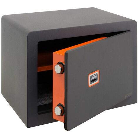 Arregui Plus C 180320 Coffre-fort Haute sécurité à poser, 10+3 mm, ouverture à clé certifiée, 25 x 35 x 25 cm, 15 L - gris foncé