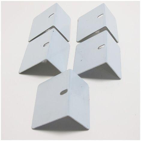 Arrêt aluminium de plaque polycarbonate (x5) - Coloris - Aluminium, Epaisseur - 1cm