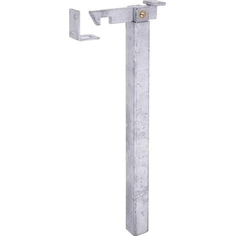 Arrêt de portail ajustable galvanisé à chaud pour fixation dans le béton - 400mm
