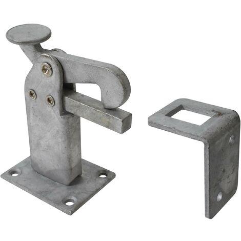 Arrêt de portail avec surface galvanisée à chaud - 95 x 65 x 50 mm