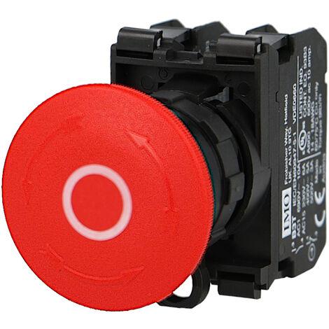 Arrêt d'urgence IMO complet à accrochage Ø22mm, 1NO+1NC