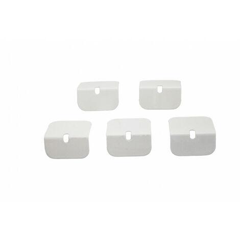 Arrêts aluminium pour profil de bordure toiture polycarbonate (x5)