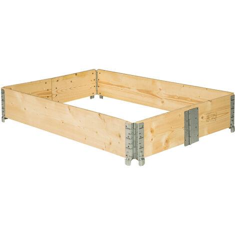 Arriate de altura - plantío de madera plegable, bancal apilable compacto con bisagras de acero, era de madera para cultivar hortalizas