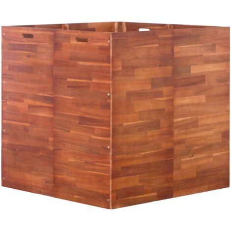 Arriate de madera de acacia 100x100x100 cm