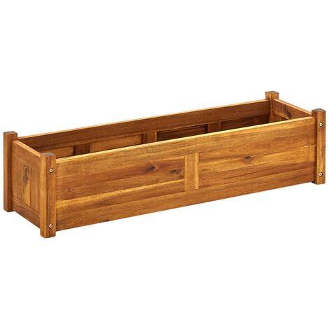 Arriate de madera de acacia 100x30x25 cm
