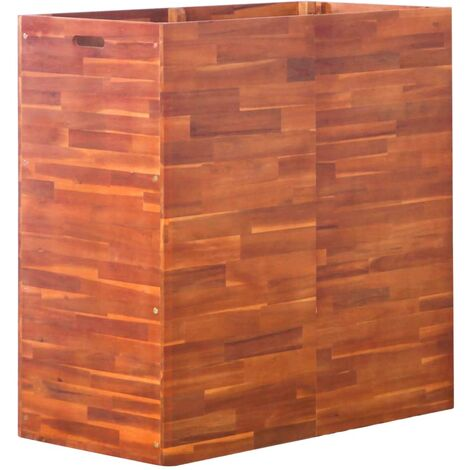 Arriate de madera de acacia 100x50x100 cm - Marrón