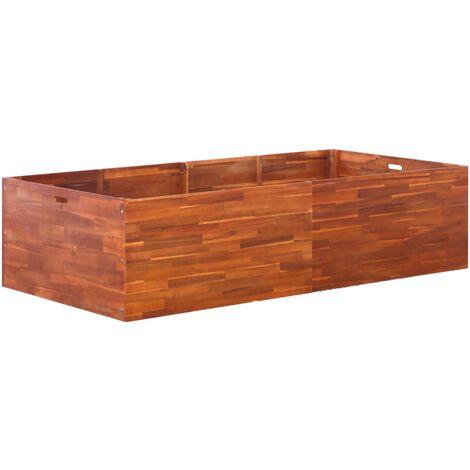 Arriate de madera de acacia 200x100x50 cm
