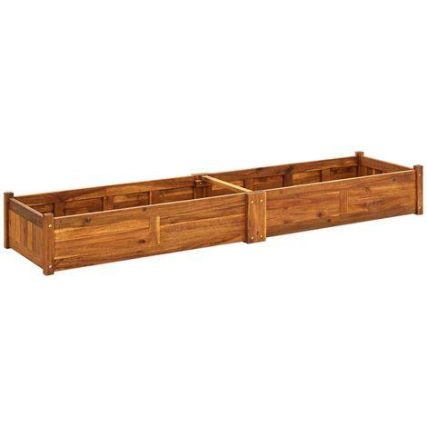 Arriate de madera de acacia 200x50x25 cm