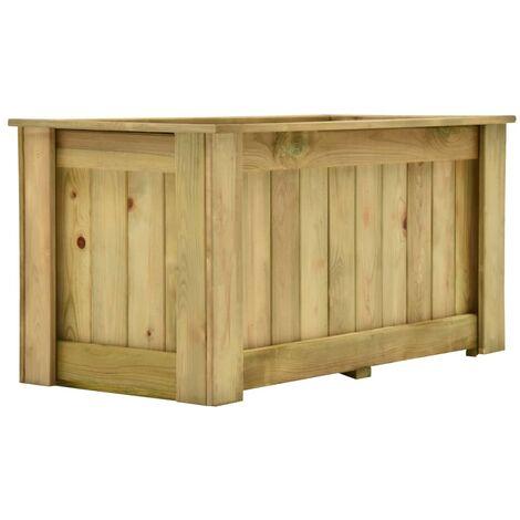 Arriate de madera de pino impregnada 100x50x50 cm