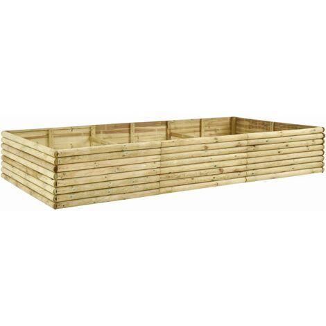 Arriate de madera de pino impregnada 19 mm 300x150x48 cm