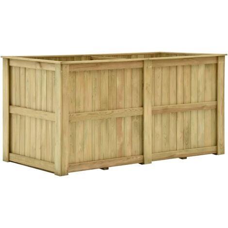 Arriate de madera de pino impregnada 196x100x100 cm
