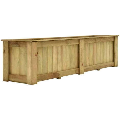 Arriate de madera de pino impregnada 196x50x50 cm