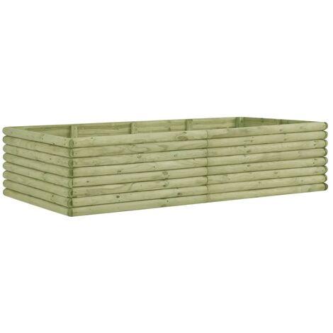 Arriate de madera de pino impregnada 206x100x48 cm