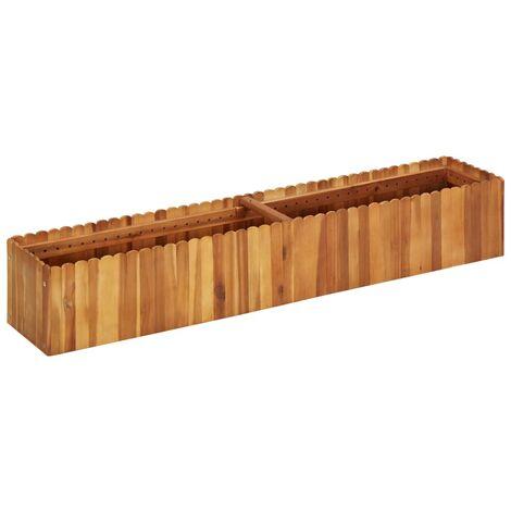 Arriate de madera maciza de acacia 150x30x25 cm