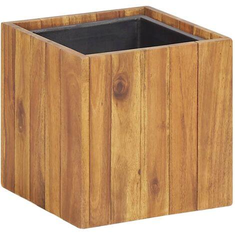 Arriate de madera maciza de acacia 24,5x24,5x24,5 cm